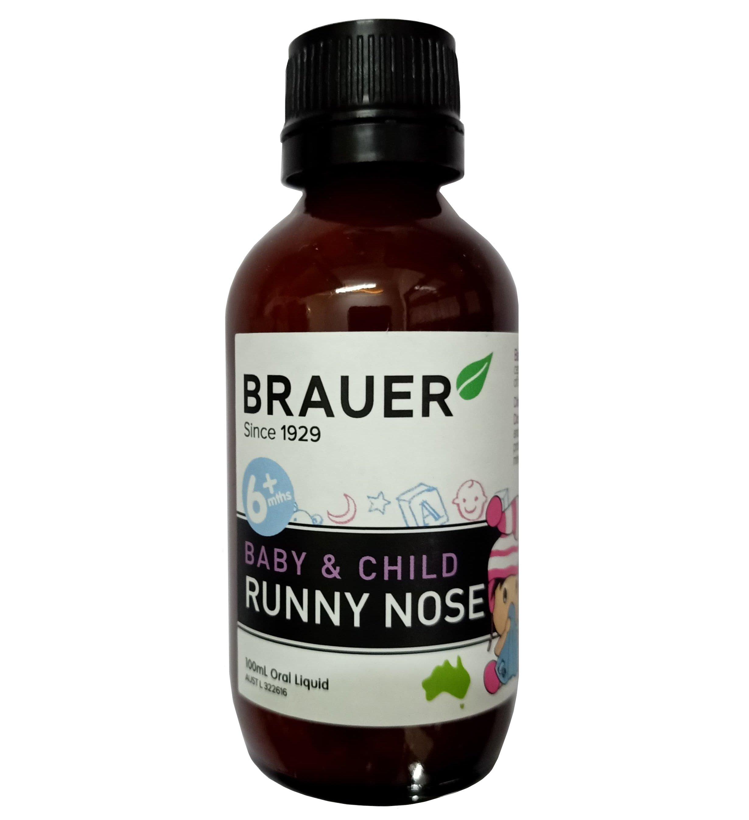 Siro Brauer Runny Nose 100ml mẫu mới
