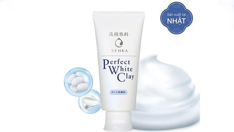 Sữa rửa mặt Senka Perfect White Clay hỗ trợ dưỡng trắng