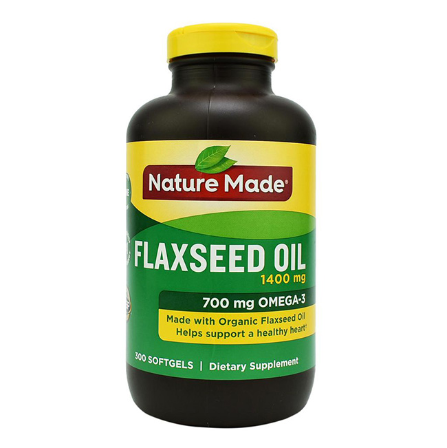 thuốc hỗ trợ tim mạch Nature Made Flaxseed Oil
