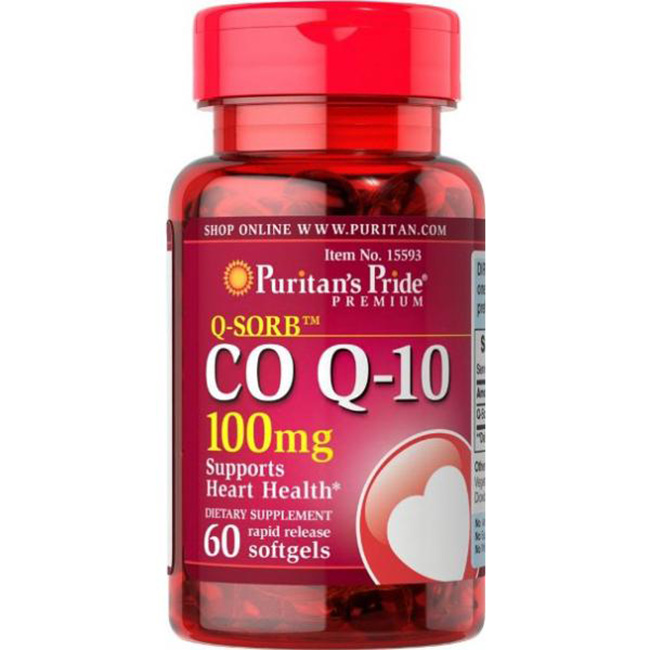 thuốc hỗ trợ tim mạch Puritan's Pride Coq10 100mg