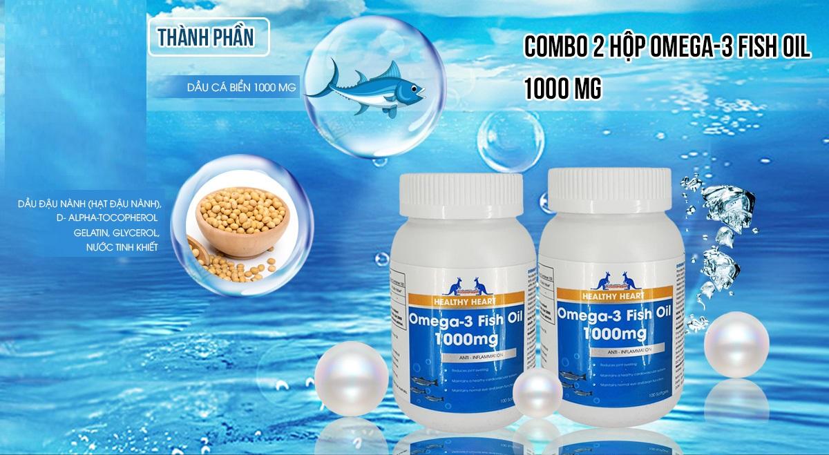Viên uống dầu cá Omega 3 Augoldhealth chính hãng