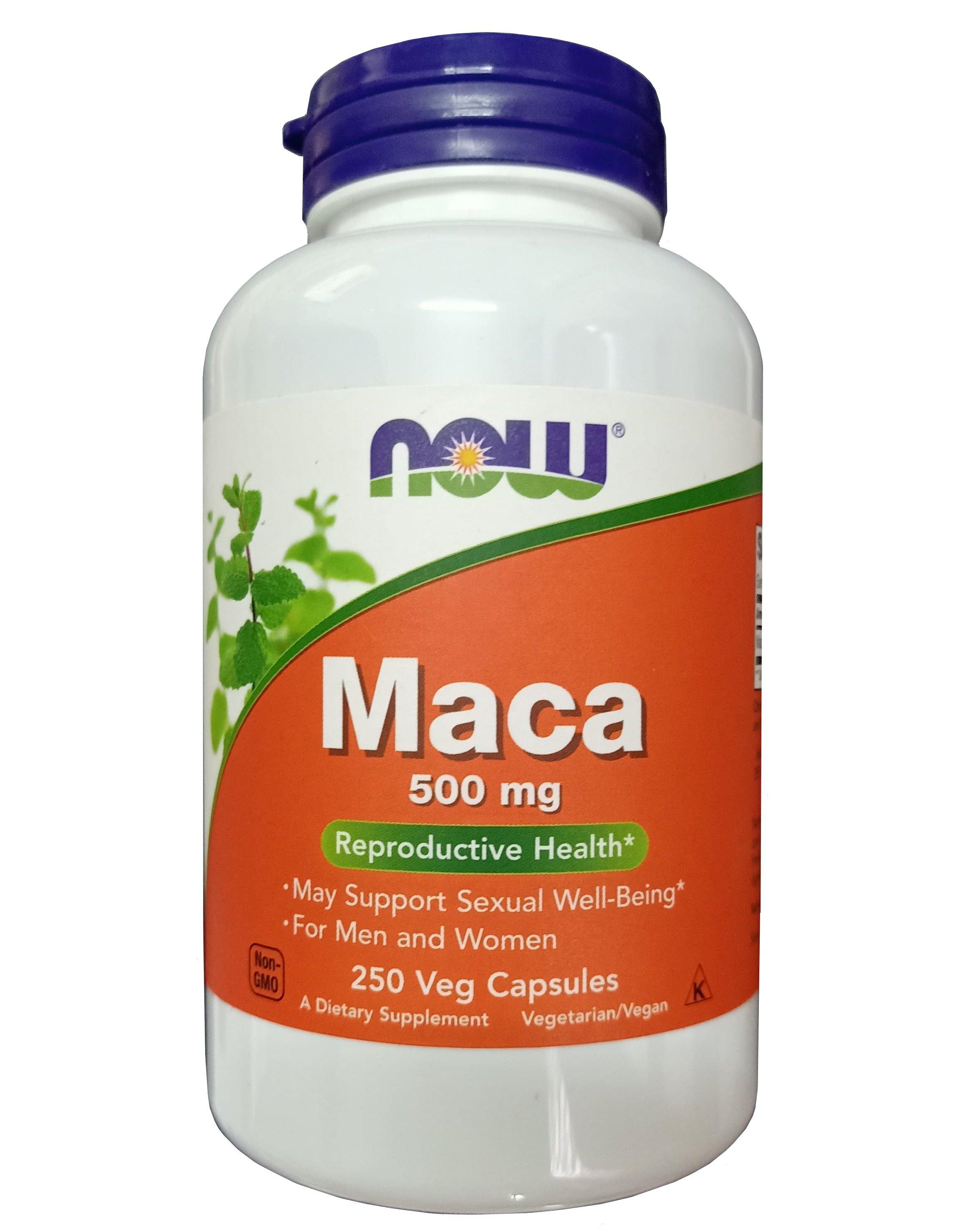 Viên uống Maca 500mg Now Foods mẫu mới