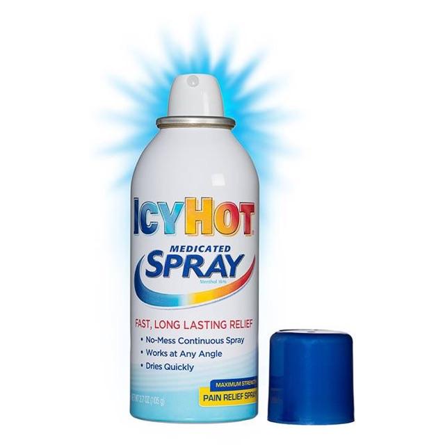 Bình xịt giảm đau Icy Hot Spray của Mỹ hỗ trợ vận động