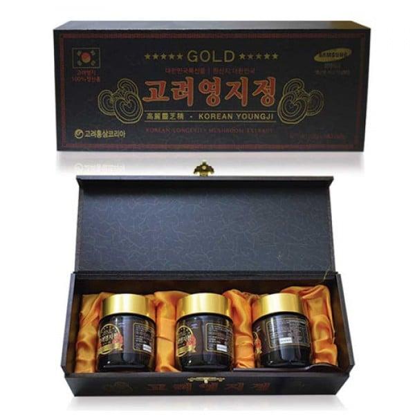 Cao nấm Linh Chi GOLD Hộp Gỗ Đen Hàn Quốc