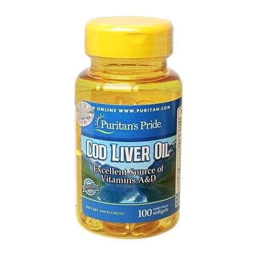 Viên uống dầu cá Puritan's Pride Cod Liver Oil