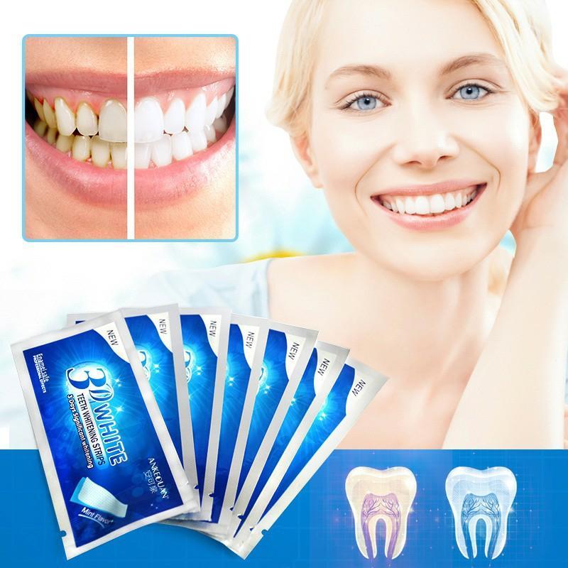 Hiệu quả sử dụng miếng dán trắng răng 3D White Teeth Whitening Strip