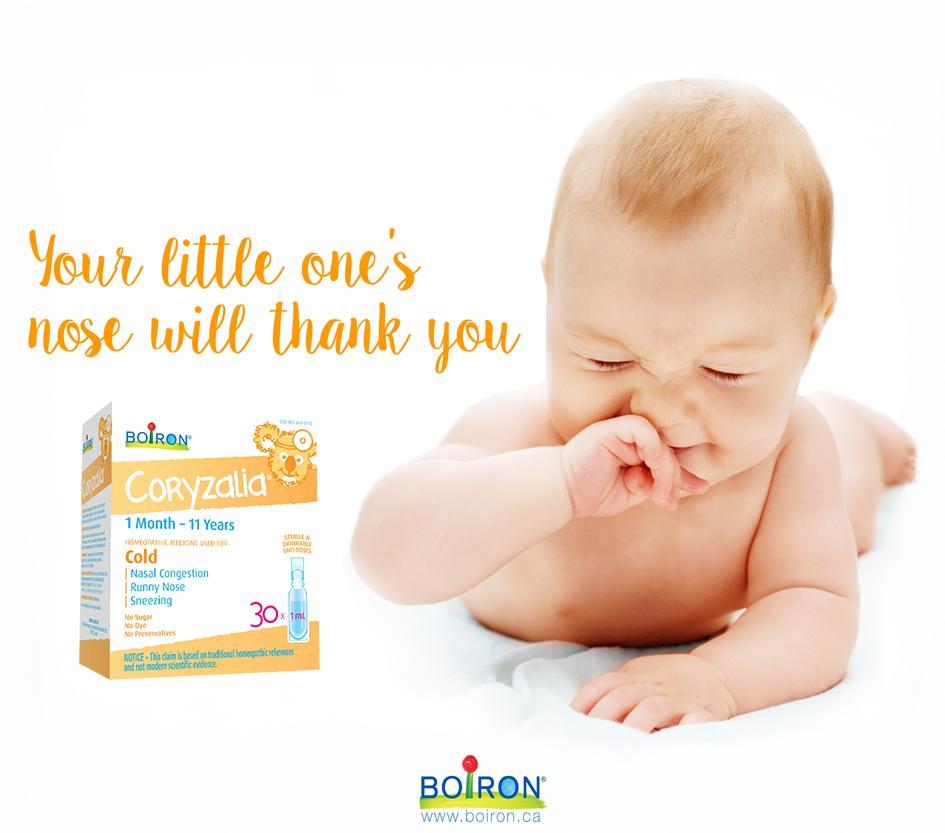 Muối uống Coryzalia Boiron bảo vệ trẻ an toàn
