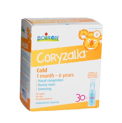 Muối uống Coryzalia Boiron giúp giảm cảm lạnh cho bé