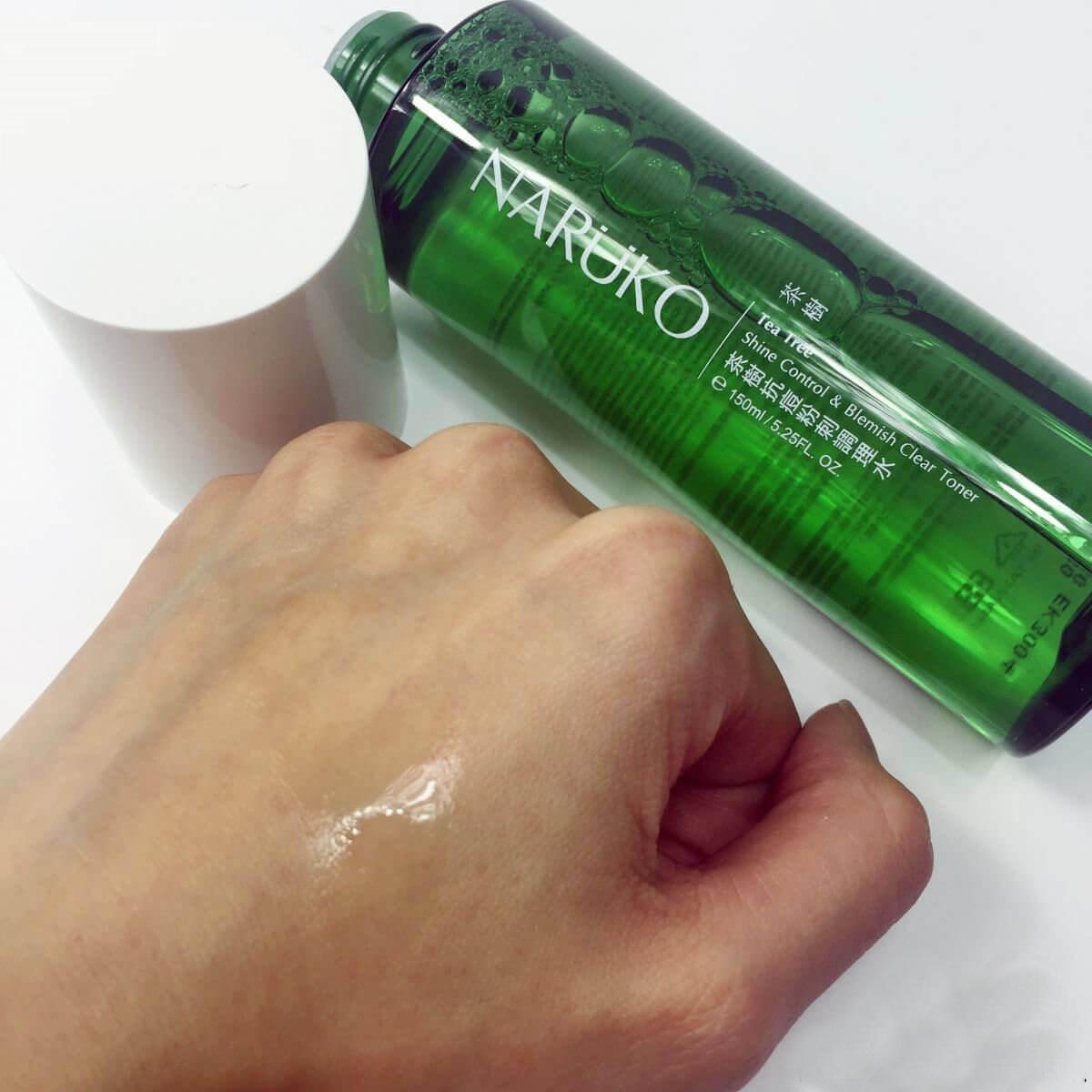 Toner trà tràm Naruko Tea Tree Shine Control and Blemish Clear hỗ trợ thẩm thấu sâu