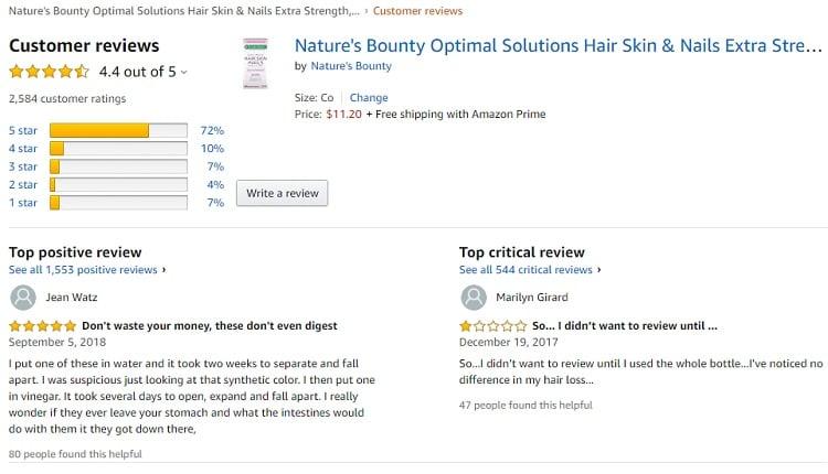 Phản hồi từ phía khách hàng sử dụng Hair Skin Nails 2