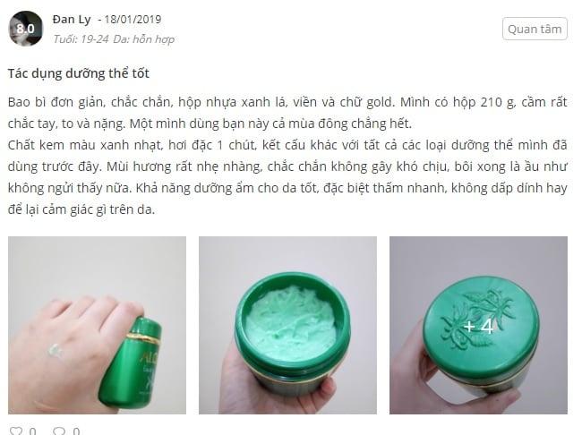 Review kem Aloins Eaude Cream S