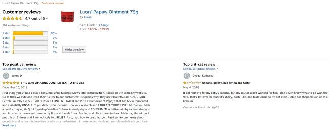 Phản hồi từ phía khách hàng sử dụng kem đa năng Lucas Papaw Ointment 75g (2)