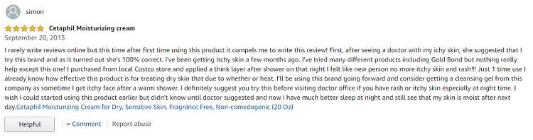 Phản hồi từ phía khách hàng sử dụng kem dưỡng ẩm Cetaphil 2