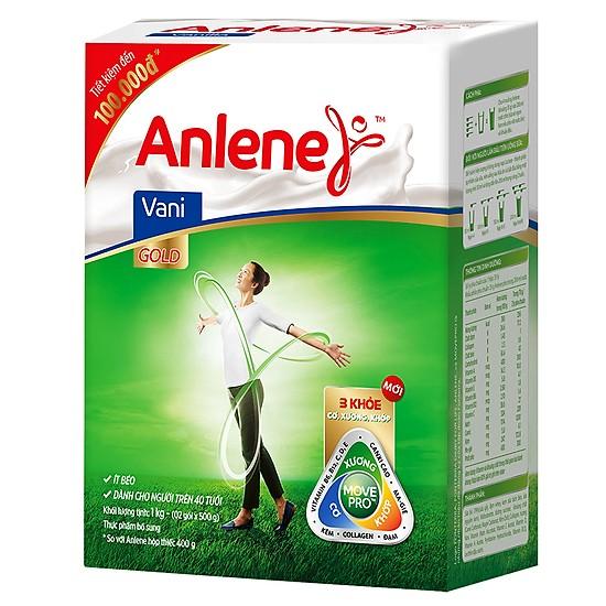 Sữa bột Anlene Gold Movepro hương Vani chăm sóc sức khỏe