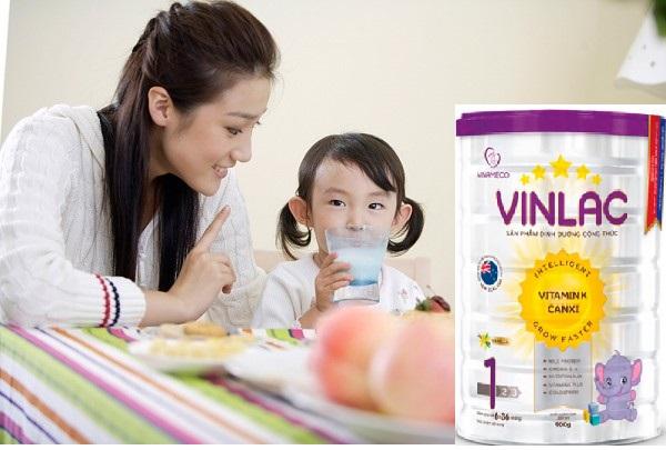 Sữa Vinlac 1 hỗ trợ chăm sóc trẻ toàn diện