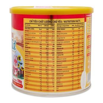 Thành phần sữa Diamond Nutrient Kid 2