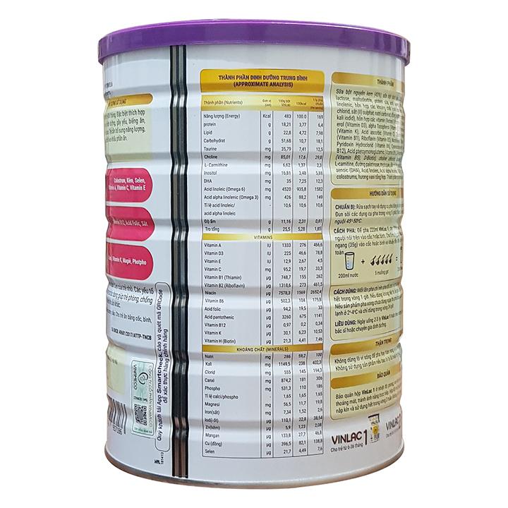 Thành phần sữa Vinlac 1 hỗ trợ tăng cân và chiều cao cho bé từ 6 - 36 tháng