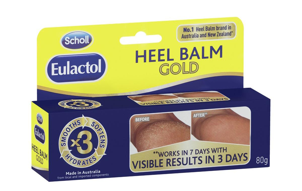 Kem trị nứt gót chân Eulactol Heel Balm Gold của Úc