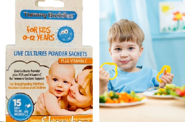 Men vi sinh Tummy Buddies cho trẻ từ tăng cường hệ tiêu hóa