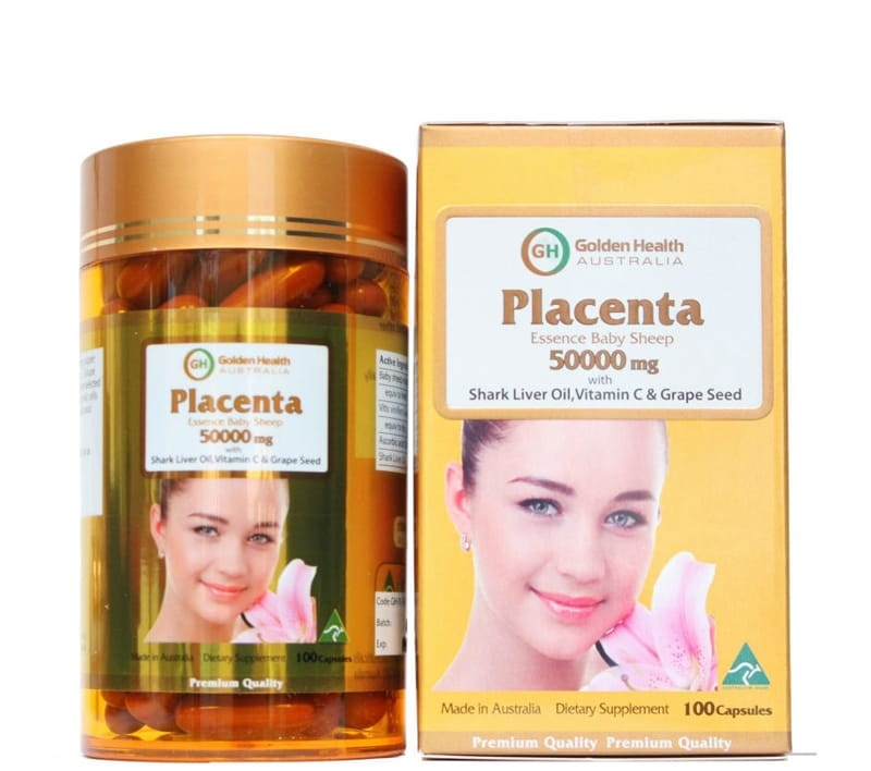 Viên uống nhau thai cừu Golden Health Placenta 5000mg