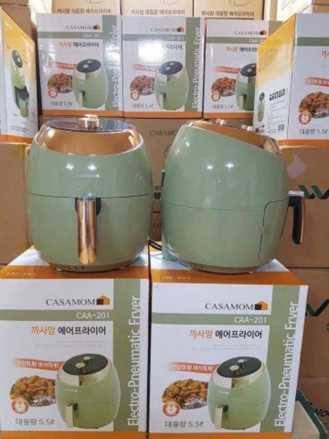 Nồi chiên không dầu Casamon nội địa Hàn Quốc chế biến nhiều món ăn đa dạng