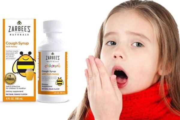 Siro ho Zarbee's Cough Syrup Dark Honey cho bé từ 12 tháng cải thiện nhiều triệu chứng ho