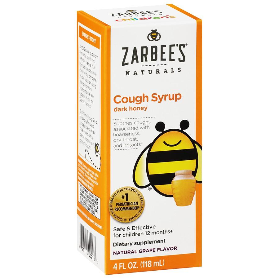 Siro ho Zarbee's Cough Syrup Dark Honey cho bé từ 12 tháng cải thiện nhanh ho lâu ngày không dứt