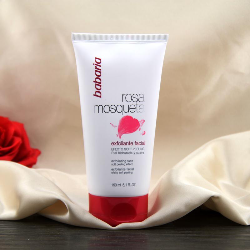 Tẩy da chết Babaria rosa mosqueta kết hợp giữ ẩm cho da