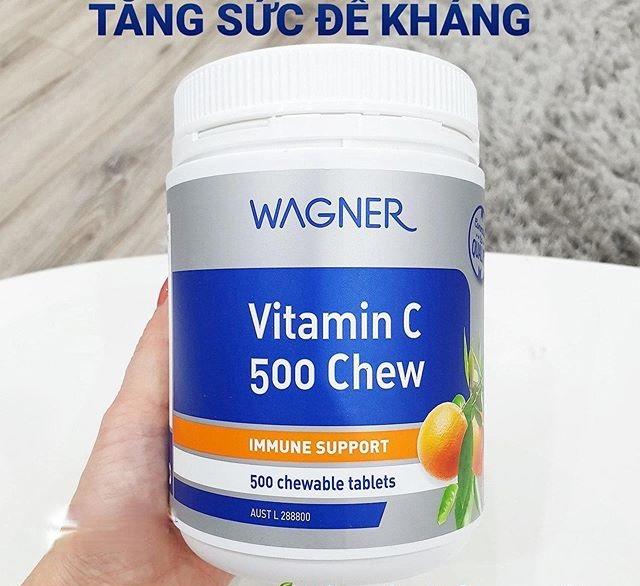 Viên nhai bổ sung vitamin C 500 Chew Wagner chính hãng của Úc