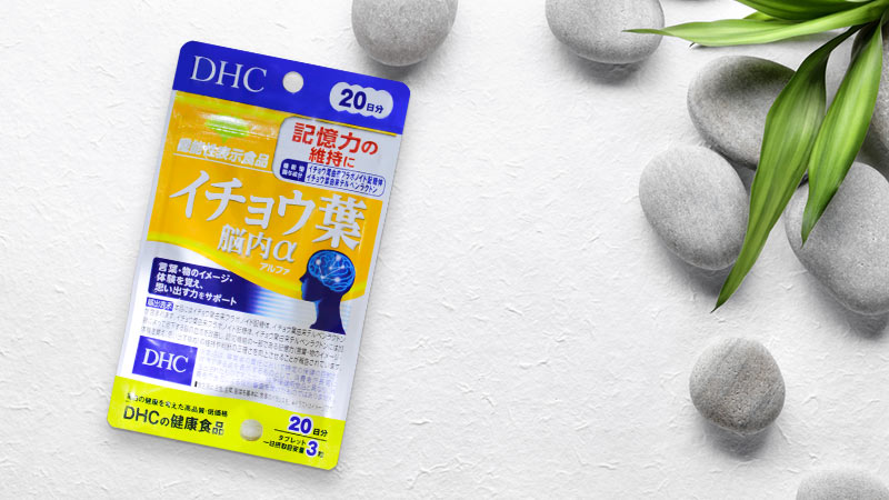 Viên uống bổ não DHC Ginkgo Biloba Alpha tăng cường chức năng não bộ