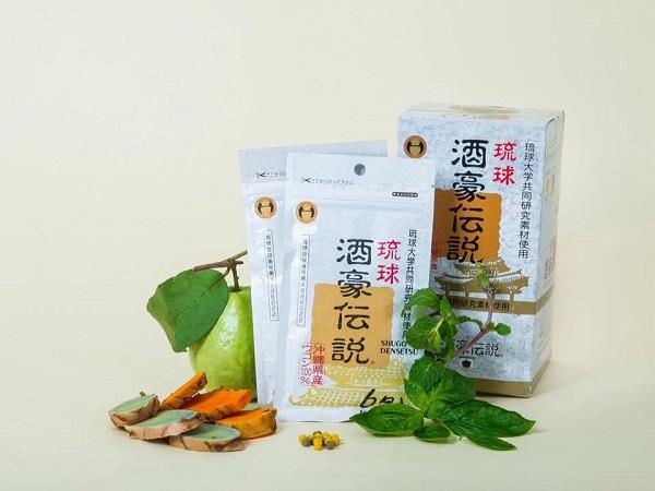 Viên uống giải rượu Shugo Densetsu của Nhật Bản thành phần tự nhiên
