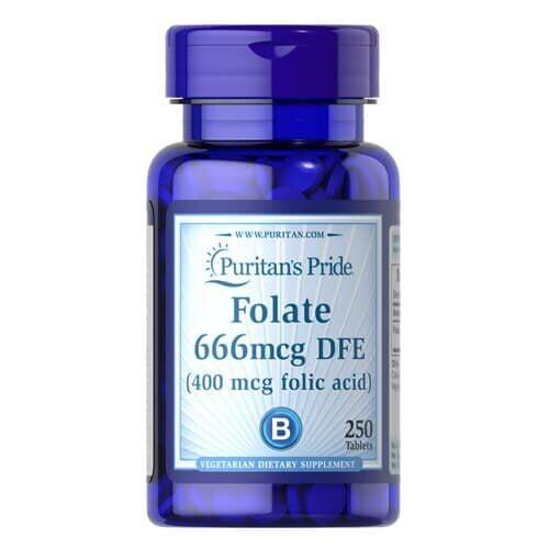 Viên uống hỗ trợ thiếu máu Puritan's Pride Folate 666mcg DFE