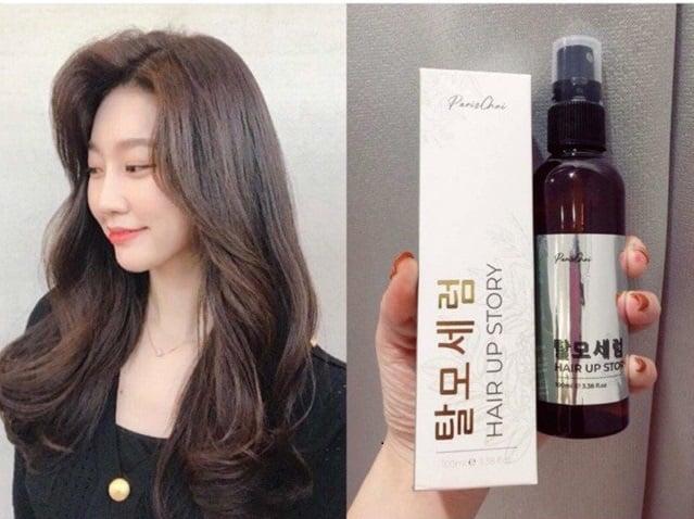 Xịt mọc tóc Genie Hair Up Story Paris Choi hỗ trợ tóc dày nhanh