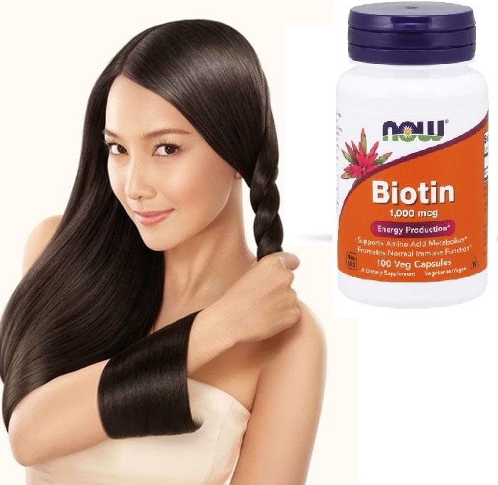 Biotin 1000mgc cho tóc chắc khỏe