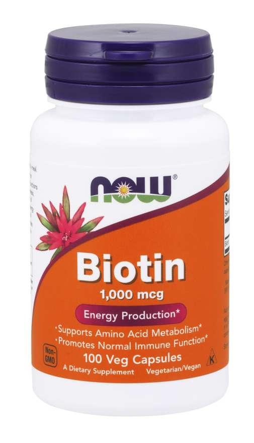 Viên Uống Hỗ Trợ Mọc Tóc NOW Foods Biotin 1000mcg