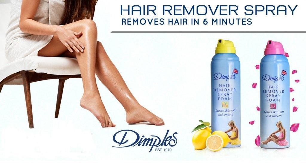 Kem tẩy lông Dimple Hair Removal Spray Foam làm sạch hiệu quả
