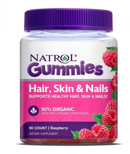 Kẹo dẻo Natrol Gummies Hair Skin Nails 90 viên