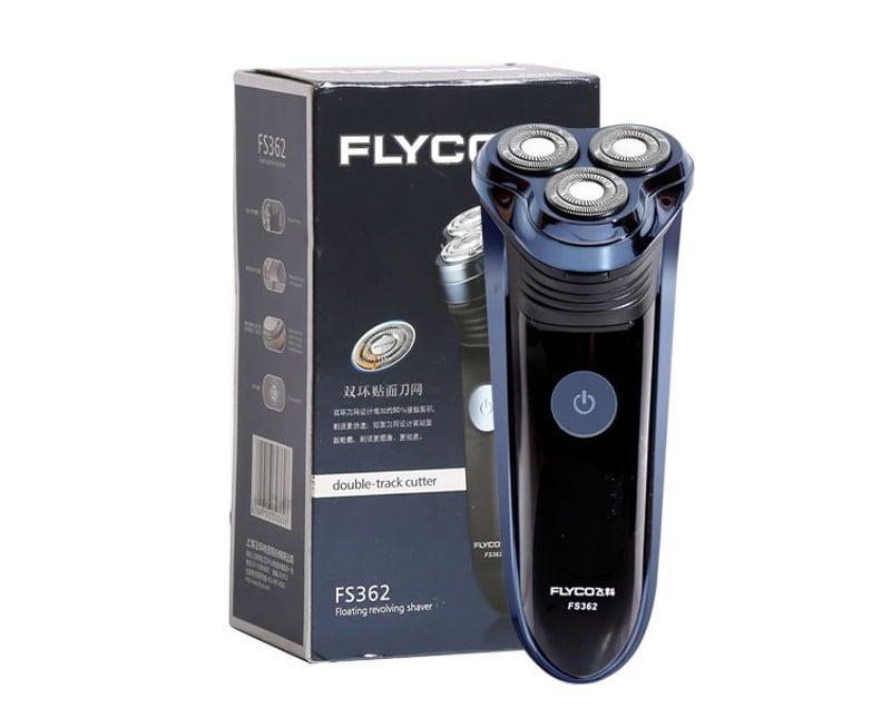 Máy cạo râu Flyco FS362 có tông đơ đi kèm mặt sau