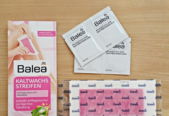 Miếng dán tẩy lông Balea sử dụng cho body