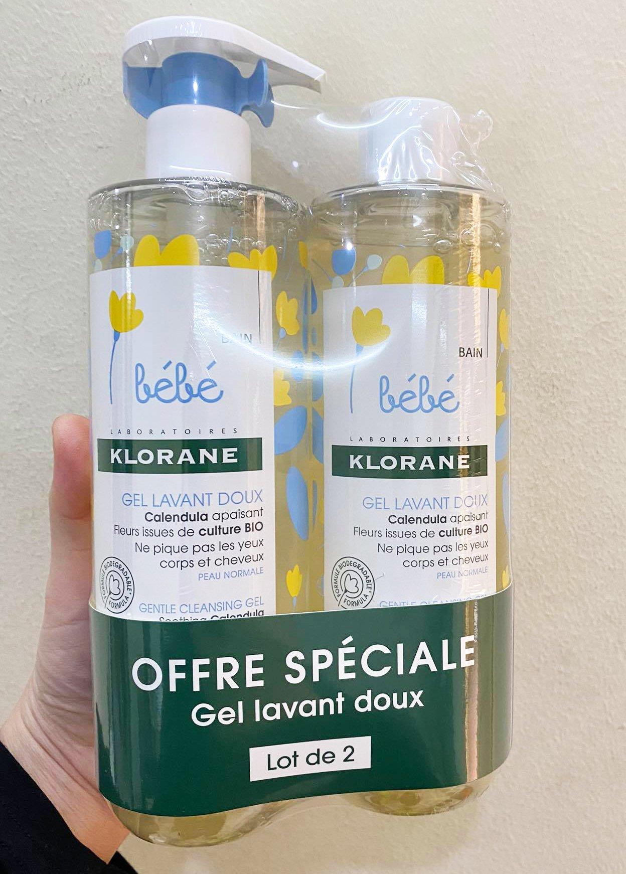 Sữa tắm gội Klorane Bebe hương thơm dễ chịu tạo cảm giác thoải mái cho bé