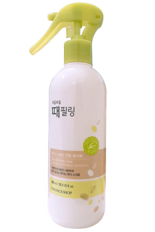 Tẩy da chết toàn thân The Face Shop Clean Peeling Mist làm sạch da, loại bỏ hoàn toàn các tế bào chết trên cơ thể
