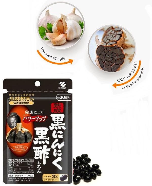 Viên uống tỏi đen Kobayashi Nhật Bản tăng cường sức khỏe hiệu quả