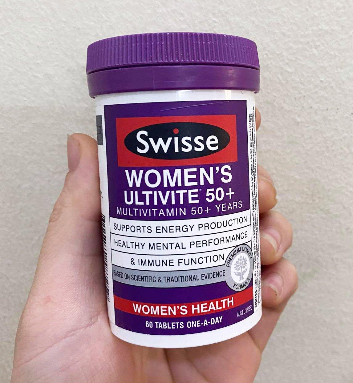 Sử dụng vitamin cho nữ trên 50 tuổi Swisse Women's Ultivite 50+ theo hướng dẫn để hiệu quả sản phẩm tốt hơn