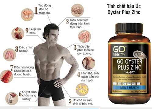 Go Healthy Go Oyster Plus Zinc 120 viên hỗ trợ tăng cường sức khỏe sinh lý