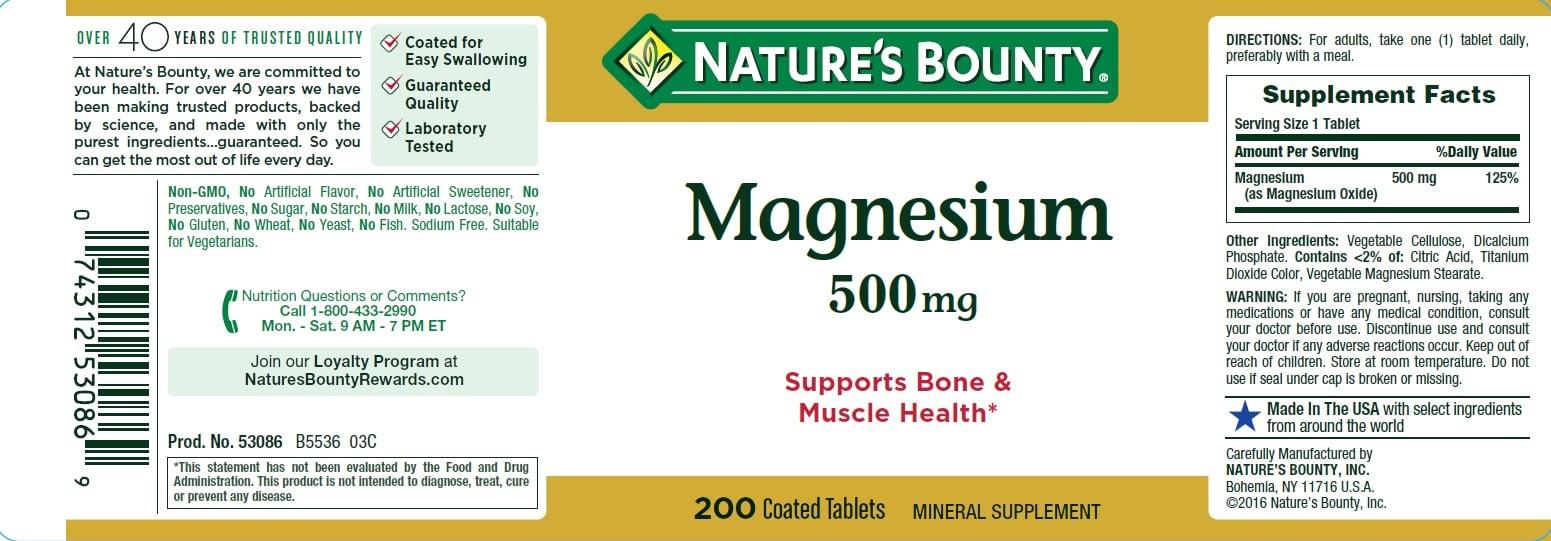 Hướng dẫn sử dụng viên Nature's Bounty Magnesium