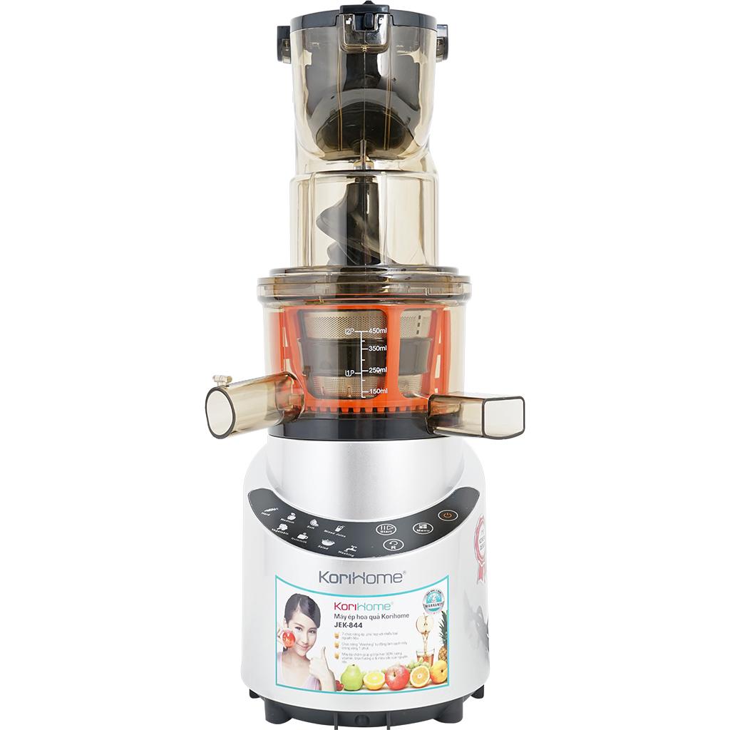 Máy ép hoa quả Korihome JEK844 hỗ trợ ép tiêu chuẩn