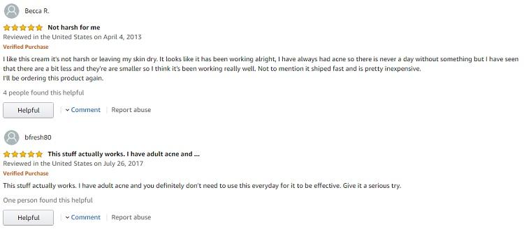 Phản hồi từ phía khách hàng sử dụng Gel hỗ trợ cải thiện mụn Zapzyt 2