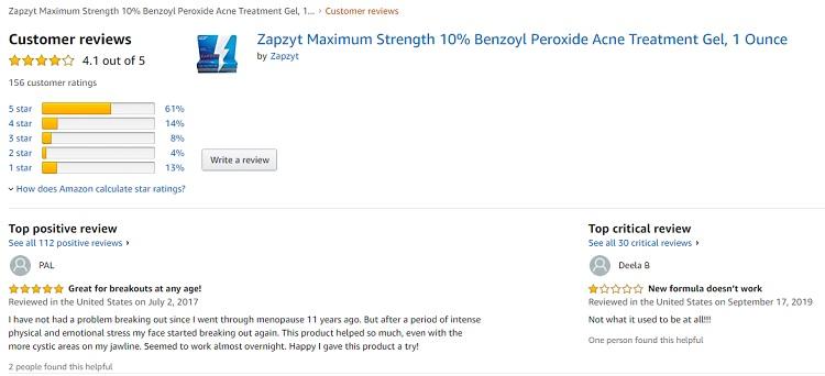 Phản hồi từ phía khách hàng sử dụng Gel hỗ trợ cải thiện mụn Zapzyt 3
