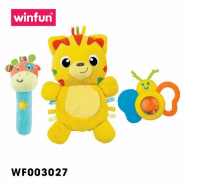 Set 3 đồ chơi cầm tay xúc xắc chíp chíp, hổ gặm nướu Winfun 3027