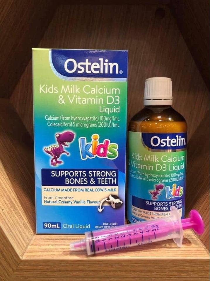 Siro bổ sung Canxi &D3 Ostelin hỗ trợ phát triển chiều cao và khả năng hấp thụ canxi cho bé